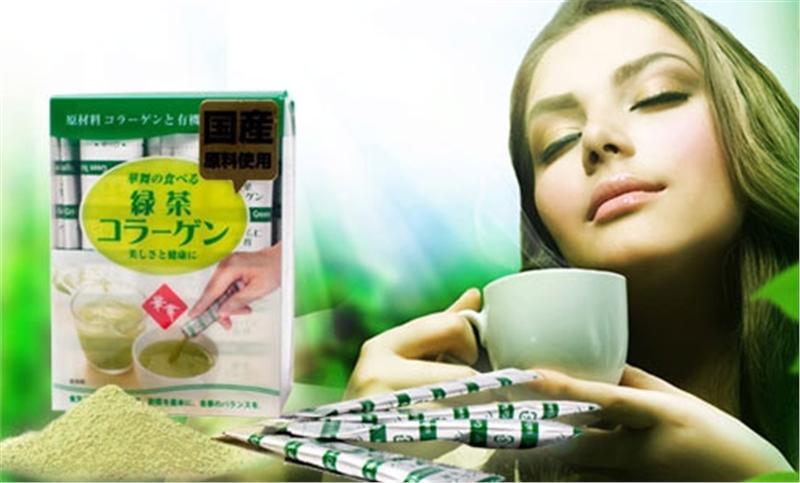 trà xanh hanamai collagen