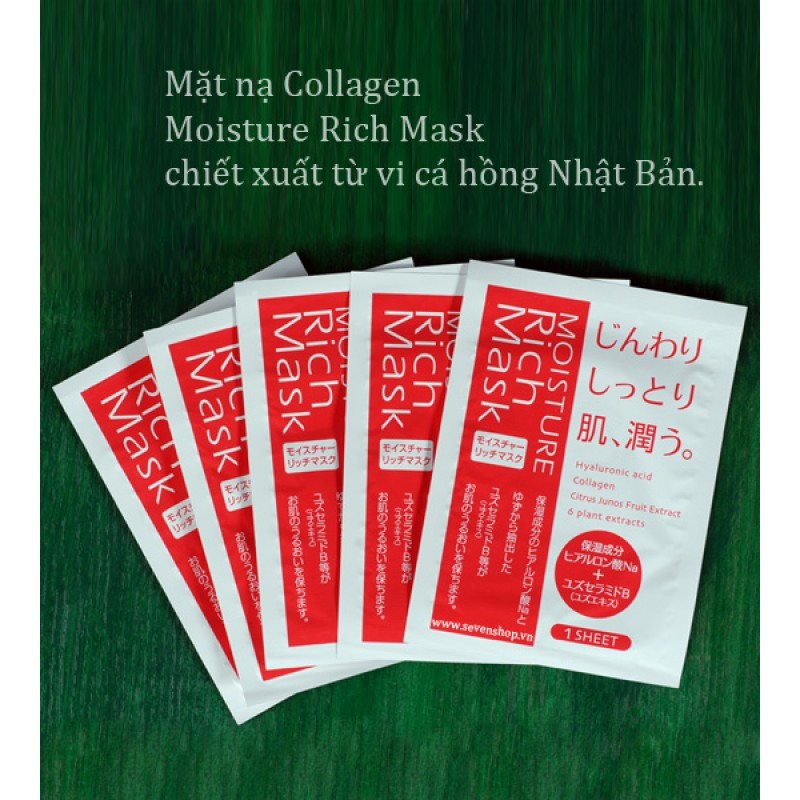 Mặt nạ collagen moisture rich mask 2