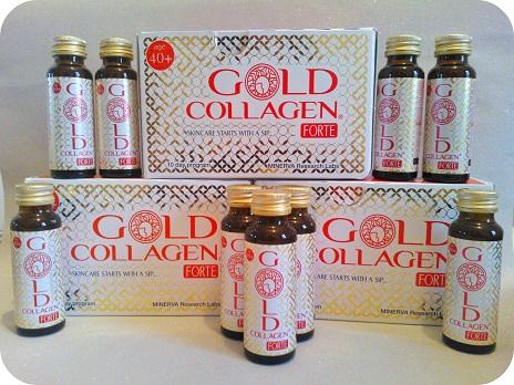 Nước uống Gold Collagen Forte- cung cấp đủ các dưỡng chất giúp làm đẹp da hiệu quả