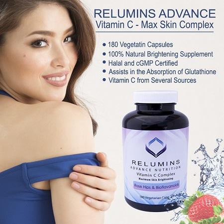 Da bật tone mỗi ngày nhờ viên uống trắng da Relumins Vitamin C Complex