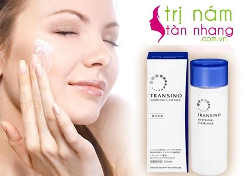 Sữa dưỡng da trị nám Transino Whitening Clear Milk tại trinamtannhang.vn