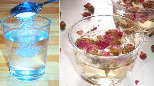 Trị nám tàn nhang bằng nước muối và nước hoa hồng