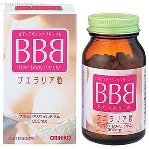 Viên uống nở ngực Best Body Beauty BBB Orihiro 300 viên