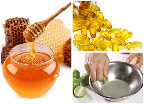 Trị tàn nhang bằng vitamin e và chanh tươi, mật ong